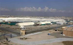 A general view of the prison compound before a ceremony handing over the Bagram prison to Afghan authorities, at the U.S. airbase in Bagram
