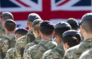 British Troops Remembering the Fallen in Afghanistan