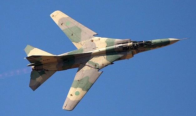 LIBIA: LE FORZE DI TOBRUK RIMETTONO IN LINEA I MIG 23 - effettuato un volo di prova riuscendo ad atterrare regolarmente nell'aeroporto di Tobruk.