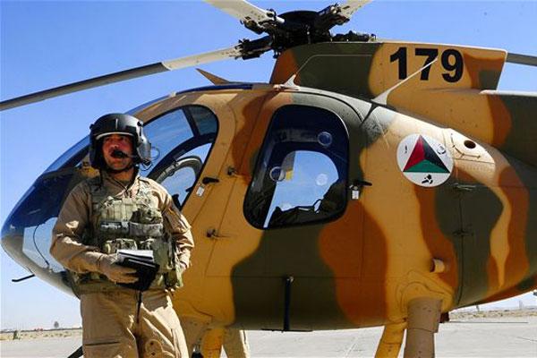 BATTESIMO DEL FUOCO PER GLI ELICOTTERI AFGHANI MD-530F - utilizzato per la prima volta in combattimento a supporto delle forze di sicurezza contro alcuni insorti in tre distretti rurali a sud di Jalalabad.