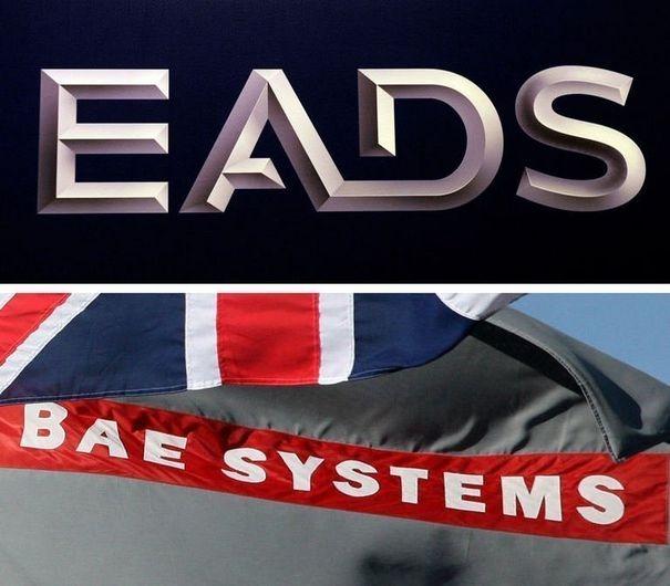 407699_les-logos-des-deux-groupes-europeens-eads-et-bae-systems