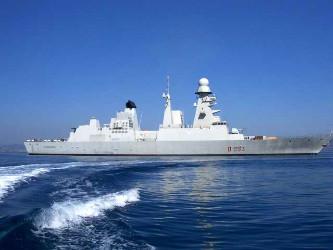 Esercitazioni in atlantico per il caccia andrea doria for Andrea doria nave da guerra