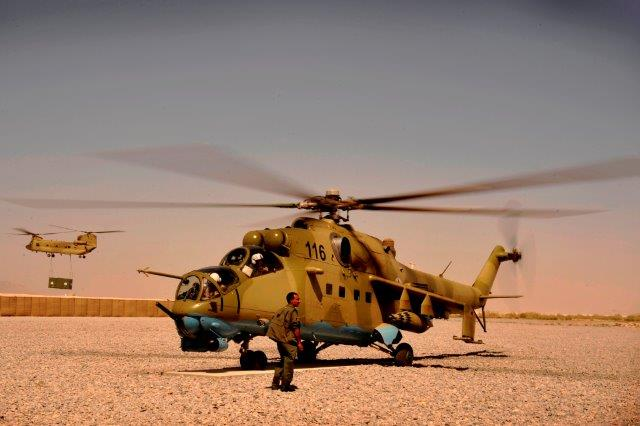 Afghan_Air_Corps_Mi-35_at_Kandahar_Airfield_2009