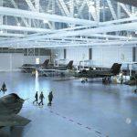 Un-rendering-del-grande-hangar-che-Lockheed-Martun-costruirà-per-gli-F-35B-britannici