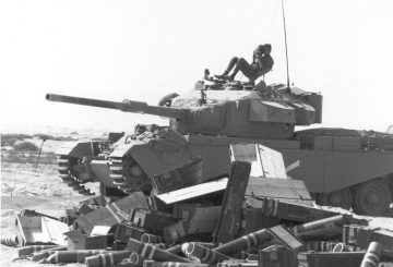 October 1973: An Israeli Centurion tank parked up in the Sinai desert during the Yom Kippur War between Israel and Egypt and Syria. (Photo by Harry Dempster/Express/Getty Images)