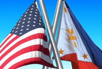 Flags-of-United-States-of-America-USA-and-Republic-of-Philippines