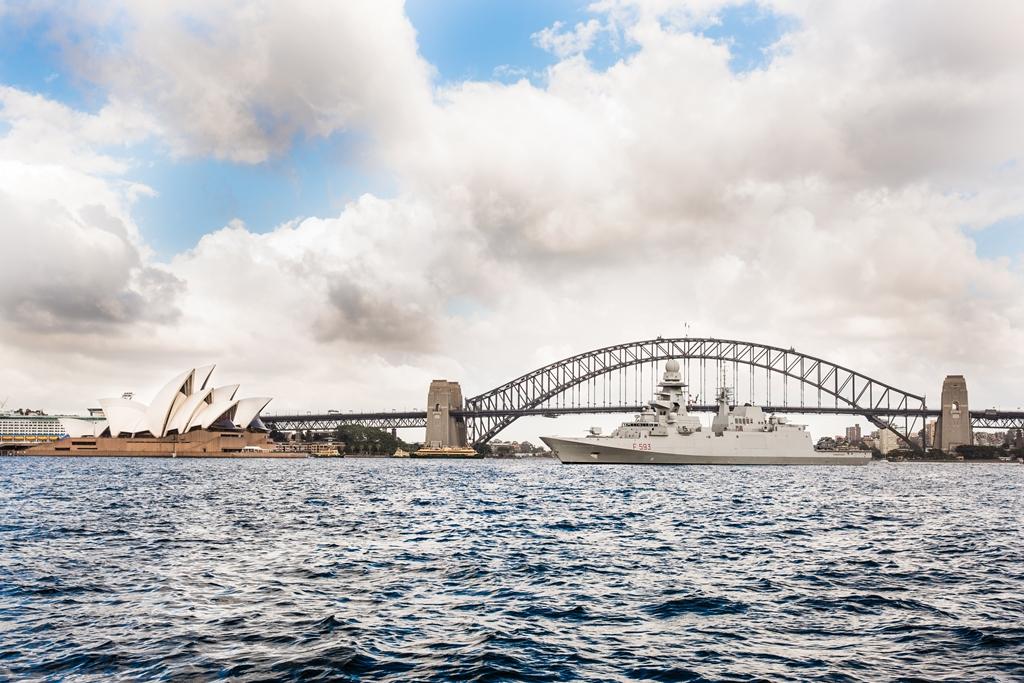 FREMM Carabiniere arriva a Sydney
