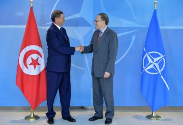 The Prime Minister of Tunisia, Habib Essid and NATO Deputy Secretary General, Alexander Vershbow