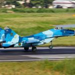 36100_Bangladesh_Air_Force_MIG-29_Landing_(8141596402)