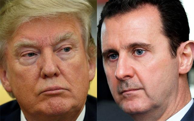 Donald-Trump-and-Bashar-al-