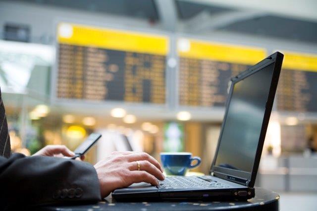 Laptop at airport