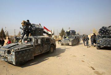 Mosul mezzi polizia irachena AFP