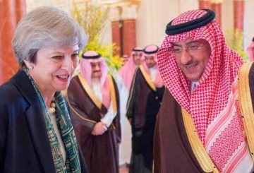 EPA Theresa May e principe Mohammed bin Nayef
