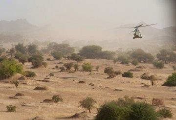 un elicottero Puma del 4° RHFS nel nord del Mali