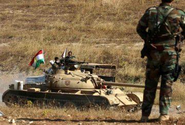 Curdi sul frinte di Mosul AFP Getty Images