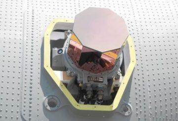 Particolare dell'installazione DIRCM Elettronica su C-130J