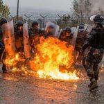 controllo della folla e reazione all'impiego di ordigni incendiari