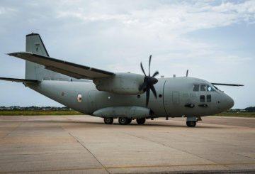 installazione sperimentale DIRCM Elettronica su C-27J per prove e test DIRCM_flare_@ITAF
