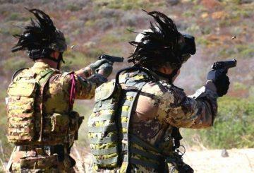 Attività di poligono con pistola
