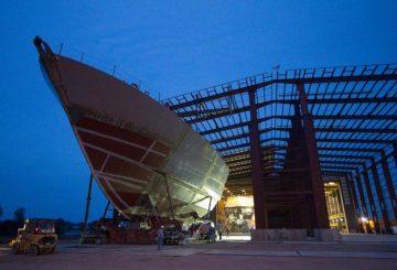La prora della LCS 3 in fase di costruzione presso Marinette Marine_@Lockheed Martin