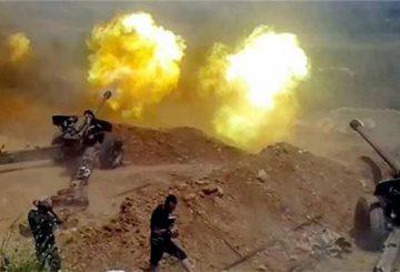 artiglieria siriana al Jazira