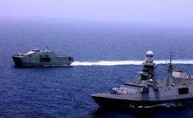 """Operazione  """"Atalanta"""": avvicendamento tra le Fremm Margottini e Martinengo"""