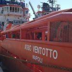 Il rimorchiatore italiano Asso 28 avrebbe riportato in Libia circa 100 persone recuperate a bordo di un gommone in difficolt‡, 31 luglio 2018, in una foto tratta da Vesselfinder.com. ++ATTENZIONE LA FOTO NON PUO' ESSERE PUBBLICATA O RIPRODOTTA SENZA L'AUTORIZZAZIONE DELLA FONTE DI ORIGINE CUI SI RINVIA+++