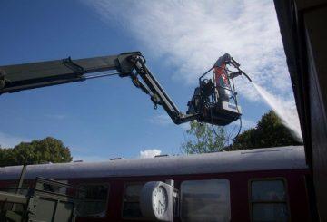 Decontaminazione di un vagone ferroviario