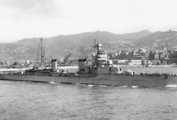 Giovanni delle Bande Nere in uscita da Genova 30-5-38 (Mussolinis Navy)