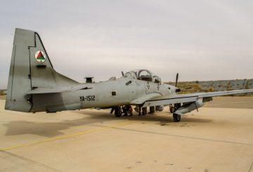 A-29 SUPER TUCANOPRIMA DEL DEL DECOLLO PER L'ESERCITAZIOME DI COORDINAMENTO AEREO