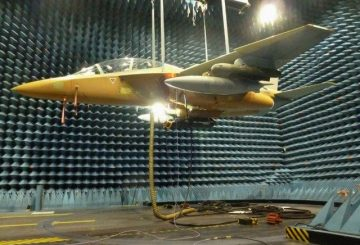 M-346 test inside anechoic chamber-raised to 5 m