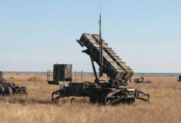 "U.S. Army Soldiers, with the 5th Battalion 7th Air Defense Artillery Regiment, stage ""Patriot"" missile defense systems for a ""Patriot Shock"" exercise in Capu Midia, Romania on November 4, 2016. The weeklong exercise tests the unit's quick response deployment readiness and increases joint interoperability with ""Patriot"" missile systems and their Romanian partners. (DoD News photo by Tech. Sgt. Brian Kimball)"