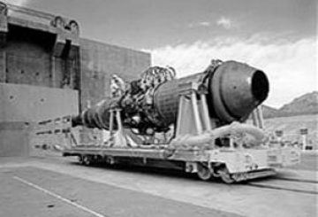 Tory-IIC_nuclear_ramjet_at_Jackass_Flats_in_1955