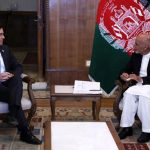 FILE PHOTO: Afghanistan's President Ashraf Ghani meets with U.S. Defense Secretary Mark Esper in Kabul, Afghanistan, October 20, 2019. Picture taken October 20, 2019. Afghan Presidential Palace/Handout via REUTERS/File Photo