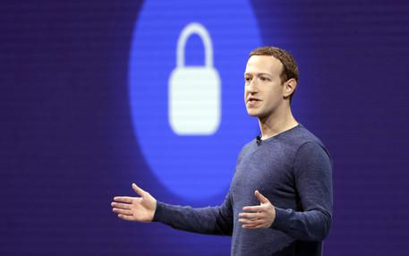 FILE- In this May 1, 2018, file photo, Facebook CEO Mark Zuckerberg delivers the keynote speech at F8, Facebook's developer conference, in San Jose, Calif. Facebook may have to wait a little longer before resolving a U.S. government investigation into the company's mishandling of personal information on its social network. The Wall Street Journal is reporting that a settlement with the Federal Trade Commission is being delayed by political wrangling. The FTC declined comment Friday, May 24, 2019. (ANSA/AP Photo/Marcio Jose Sanchez, File) [CopyrightNotice: Copyright 2019 The Associated Press. All rights reserved.]