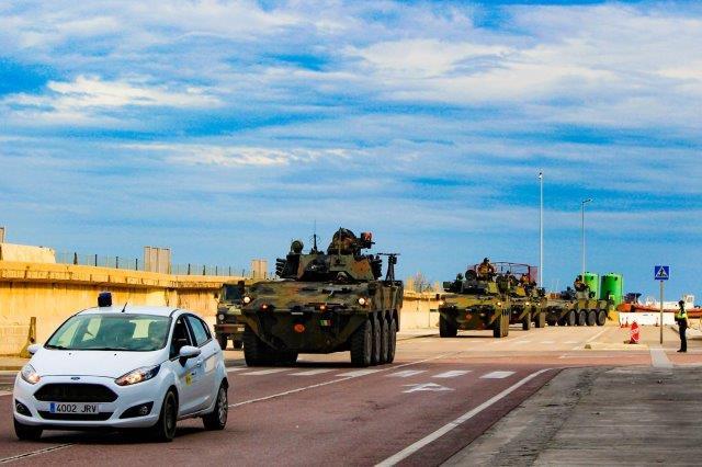 Esercitazione Toro 2019 Trasferimento mezzi dal porto di Segunto con Guardia Civil_5 (002)