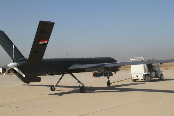 Iraq's Army Aviation's CH-4B armed drones based out of Kut airbase, 160km southeast of Baghdad 1