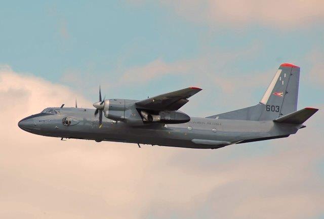 Hungarian_Air_Force_Antonov_An-26_departs_RIAT_14thJuly2014_arp