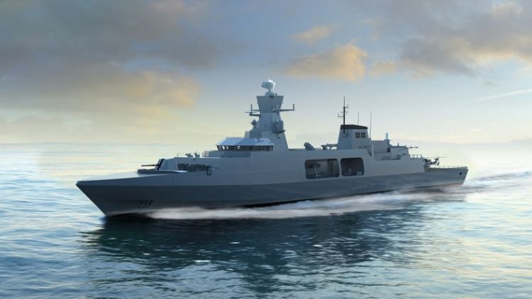 BAE Systems computerised image of future Type 31e frigate CREDIT BAE SYSTEMS