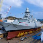 Taglio della prima lamiera per le nuove FREMM destinate alla Marina Militare