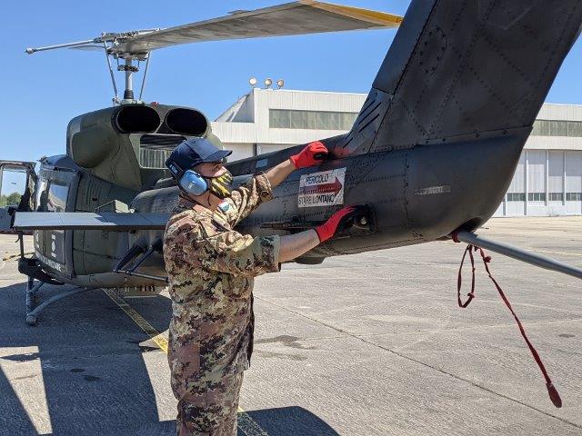 Manutenzione elicottero HH212 del 21° Gruppo