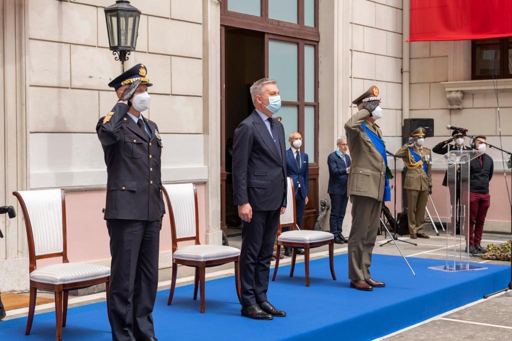 Ministro della Difesa On Lorenzo Guerini Capo di Stato Maggiore della Difesa Gen. Enzo Vecciarelli e Capo di Stato Maggiore dell'Esercito Gen. C.A. Pietro Serino (002)